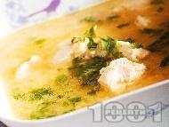 Патешка супа с овесени ядки